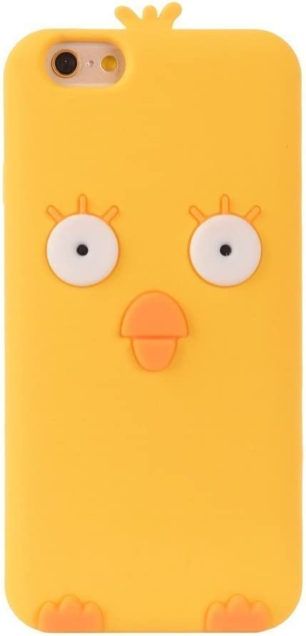 SKS Distribution® amarillo silicona Cute Chick pollo teléfono móvil/Carcasa para Apple iPhone 5/5S/5C/se