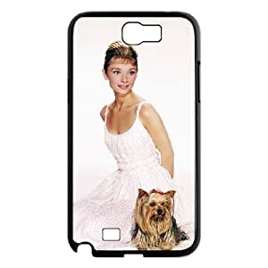 D-PAFD Diy Phone Case Audrey Hepburn Pattern Hard Case For Samsung Galaxy Note 2 N7100