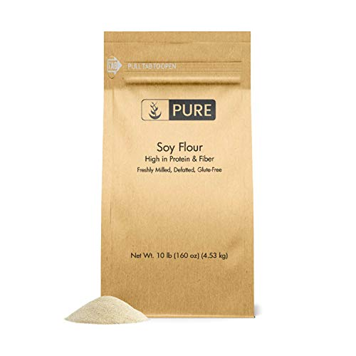 (Soy Flour (10 lb.) by Pure Organic Ingredients, Great for Baking, Frying, and Thickening. High Protein / Low Calorie)