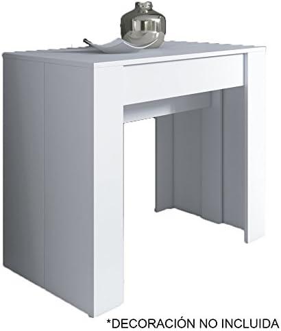 Mesa consola, recibidor, comedor, extensible Ramona, blanco o ...
