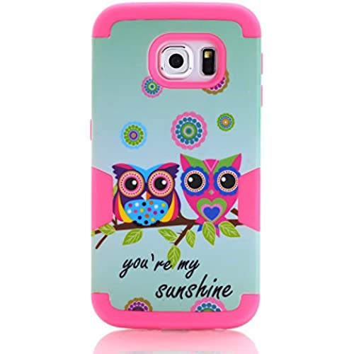 Galaxy S7 Edge Case, SAVYOU Sunshine Owl 3 in 1 Hybrid Shock Absorbing Case with Hybrid Cover Soft Silicone + PC Material Design Case for Samsung Galaxy S7 Sales