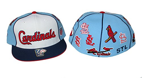 Genuine Merchandise St. Louis Cardinals Logo Plus Fitted Size 7 1/4 Cooperstown Collection Hat Cap - Red