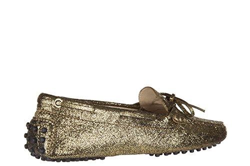 Tod's mocassins femme en cuir heaven new laccetto or
