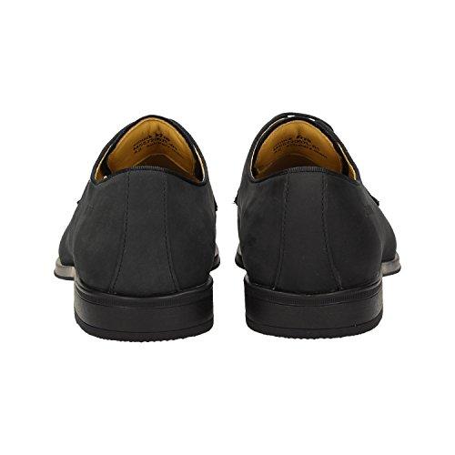 Zweigut Hamburg Smuck # 270 Zakenmensen Lederen Schoen Comfort Royal Derby Sneaker-gevoel Matzwart