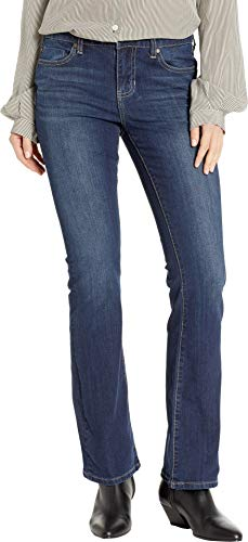 Liverpool Women's Petite Logan Hugger Bootcut Slimming Four-Way Stretch Denim Jeans in Orion Medium Dark Orion Medium Dark 4 29 Petite