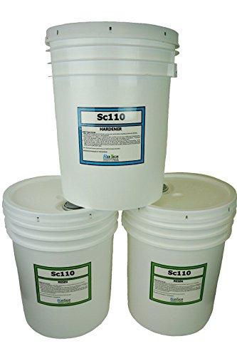 UV RESISTANT MARINE GRADE EPOXY RESIN (15 Gallon Kit) * CLEAR * NON-TOXIC *  BOAT * BAR TOP * TABLE TOP * FIBERGLASS * WOOD * LAMINATING