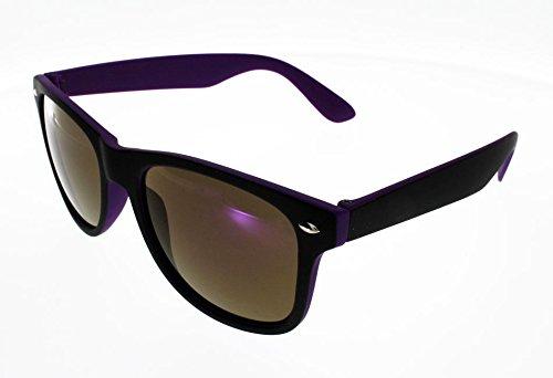 Ad Sol Lunettes de Soleil AZ16115A Style Wayfarer Noire et violet Mat Mixte  Indice 3 Grand 384c22057506