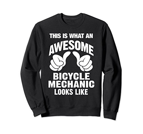 Black Mechanics Style Gloves (Unisex Bicycle Mechanic Awesome Looks Like Sweatshirt XL: Black)
