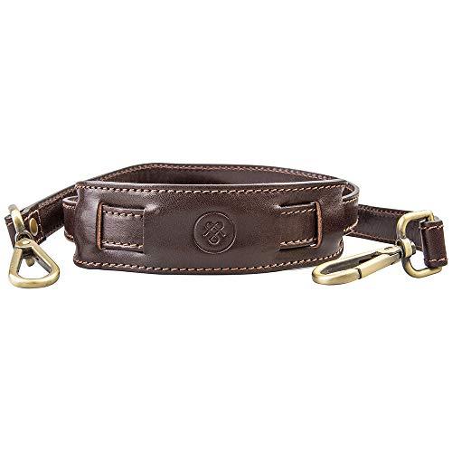- Maxwell Scott Leather Shoulder Strap - Brown