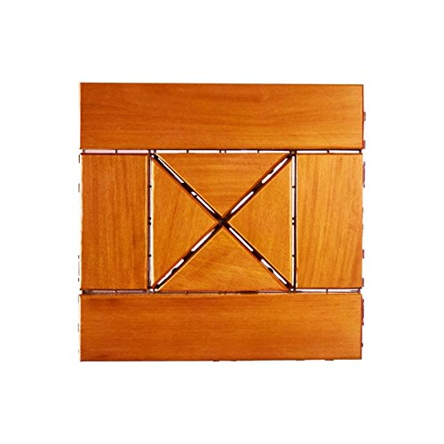Eco Deck 1 sq. ft. Sirari Allegro Wood Outdoor Interlocking Decking Tiles (Pack of 10)