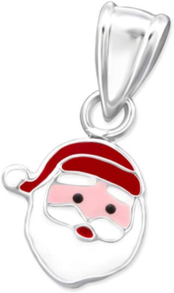 Liara Polished and Nickel Free Santa Clause Pendants 925 Sterling Silver
