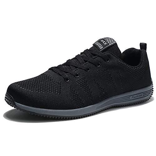 Yxlong Quatre Saisons Nouvelle Mode De Chaussures Pour Sport En Plein Air Hommes Grande Taille 48 Course Occasionnels Noir