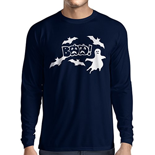Long Sleeve t Shirt Men BAAA! - Funny Halloween Costume Ideas, Cool Party Outfits (X-Large Blue Multi Color)]()