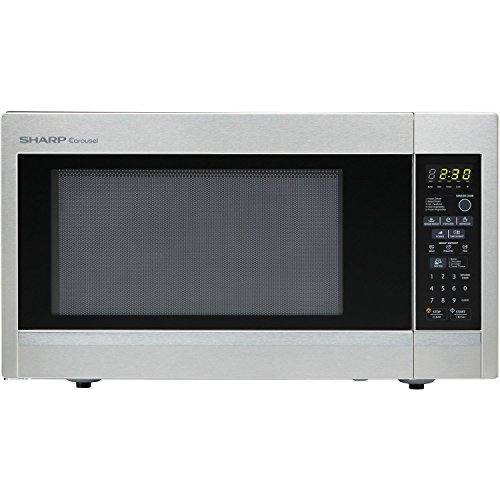 Sharp R551ZS Carousel 1.8 cu.ft 1100 watts Microwave Stainless Steel (Certified Refurbished)