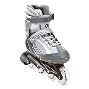 Rollerblade Bladerunner Pro 80 Women's In-Line Skate, Sil/Violet, Women's US 8