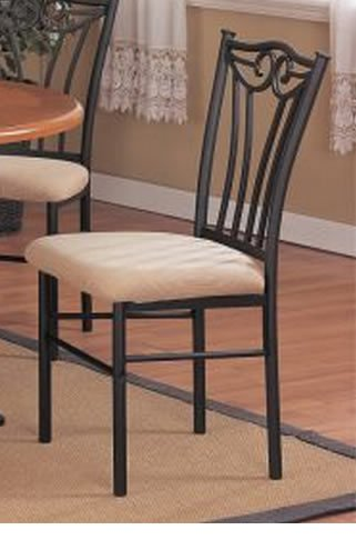 black metal dining chairs Amazon.  2 Two Decorative Black Metal Dining Chairs With  black metal dining chairs