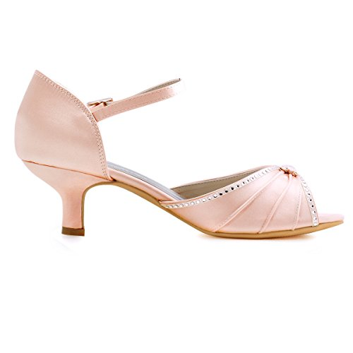 Sandales Mariee Chaussures Bas Ouvert De Bal Talon Elegantpark Escarpins Blush Diamant Bout Satin Hp1623 xwfUnqP8Z