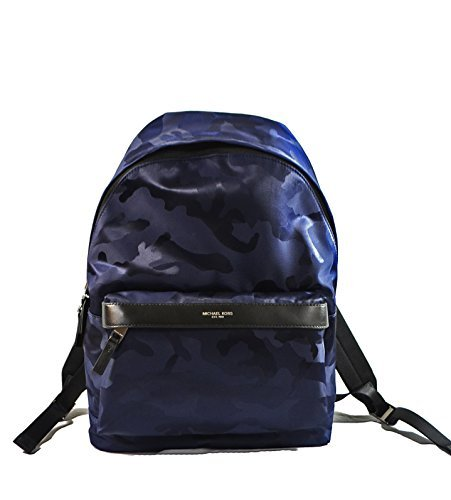 Michael Kors Kent Nylon Backpack For Work School Office Travel (Indigo)