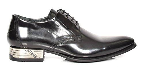 New Rock Schnürsenkel Leder Müßiggänger Smart Lässig Formal Kleid Oxford Schuhe Schwarz