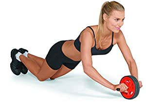 Valeo Ab Roller Wheel, Exercise And Fitness Wheel With Easy Grip Handles For Core Training And Best Abdominal Workout by Valeo
