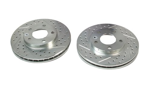 BAER 54011-020 Sport Rotors Slotted Drilled Zinc Plated Front Brake Rotor Set - Pair
