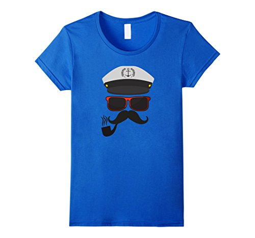 Womens Sailing Boat Captain Costume Shirt for Halloween Medium Royal (Love Boat Halloween Costumes)
