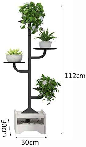 QTDS Kreative Flower Stand Multi-Layer-Indoor-Wohnzimmer Balkon Schmiedeeisen Baum-förmige Landung Multi-Korn-Grün Stiel hängen Orchidee Regal Flower Stand (Color : B)