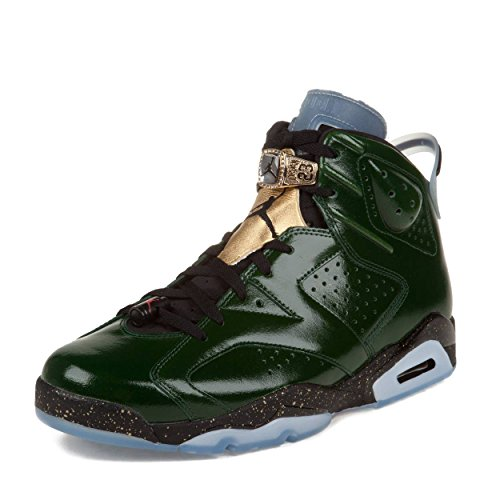 Jordan Air 6 Retro Championship Champagne Men's Shoes Pure Green/Metallic Gold-Red-Black 384664-350 (10.5 D(M) US)