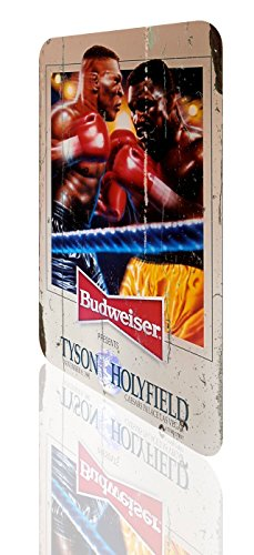 (Metal Sign Mike Tyson Evander Holyfield Beer Budweiser Poster Classic Boxing Rusted)
