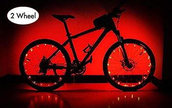 AIKATE Luces para Rueda de Bicicleta, 20 Tiras de Luces LED Coloridas, Cuerdas de