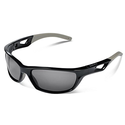 Duduma Polarized Sport Mens Sunglasses for Baseball Fishing Golf Running Cycling with Fashion Women Sunglasses and Men Sunglasses Tr80821 Flexible Superlight Frame (Black frame, Black - Baseball Good For Sunglasses