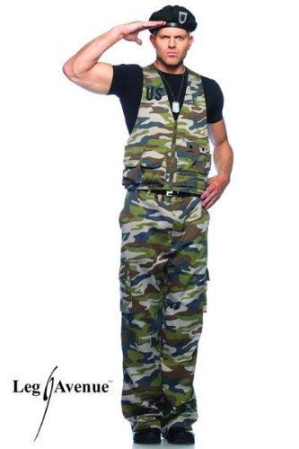 Special Ops Costumes (Leg Avenue Men's Special Ops Officer Costume, Green, X-Large)