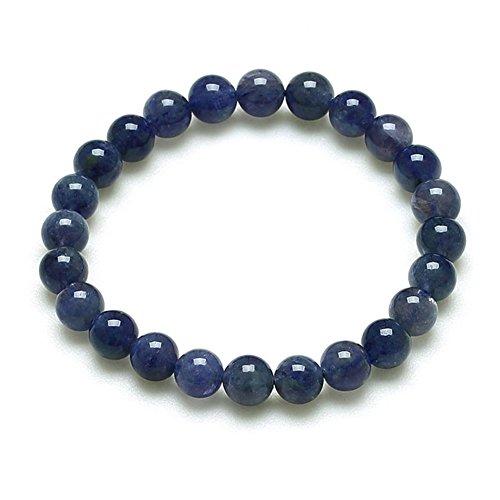 bracelet tanzanite naturelle/Cristal élégant bracelets de perles