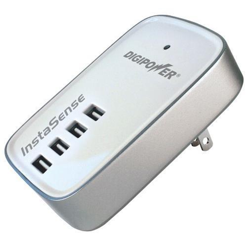 DigiPower ACD-400i 4 Port USB Charger - 21 W Output Power - 120 V AC, 230 V AC Input Voltage - 5 V DC Output Voltage - 4.20 A Output ()