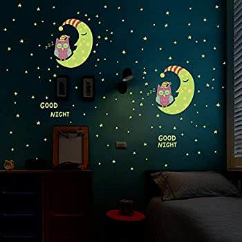 Luminous Stickers For Kids Room Cartoon Designs Glow In The Dark Home Decoration