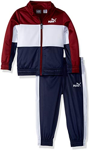 PUMA Toddler Boys' Tricot Pant Set, Pomegranate, -