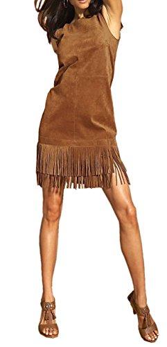 Unbekannt - Vestido - Estuche - Opaco - para mujer coñac