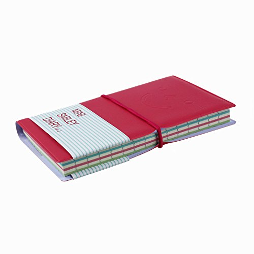 Notebook, Paymenow 12.5cm7.5cmSmiley Diary Notebook Colored Paper Memo Book Leather Note Pad Stationery Pocketbook (Hot Pink)