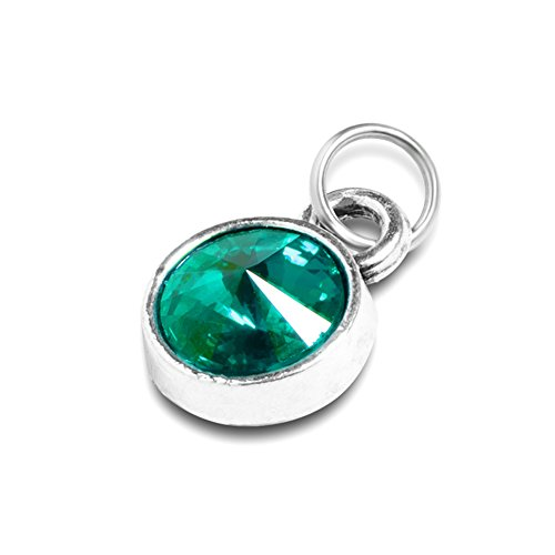 (Extral Birthstone Charm for Necklace Bracelet Custom Small Pendant (May))