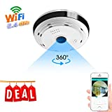 BESDERSEC 360 Degree Panoramic WiFi Camera HD 960P Security Camera Baby Monitors Home Camera Pet Monitor Two Way Audio Hidden Camera Remote Viewing Night Vision Motion Detection Wireless Camera 2.4GHZ