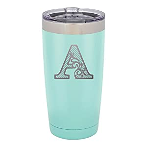 Froolu Stainless Steel Water Bottle - Mint Personalized Laser Engraved Tumbler - Hydro Travel Cup Flask