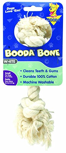 Booda 50761 Small White Rope Dog Bones (Pet Bone Aspen Booda)