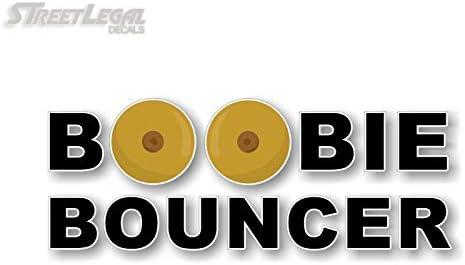 Boobie Bouncer Funny Die Cut Decal Sticker Window Laptop JDM Racing Slammed