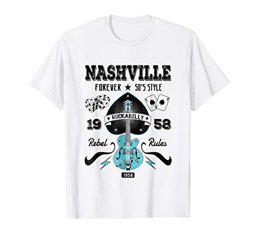 Nashville Tee Shirt Tennessee 1950s Rockabilly Style Gifts