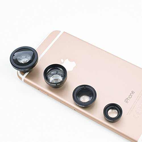 iPhone-Lens-4-in-1-Magnetic-Kit-FishEye-180-Degree-067-Wide-Angle-Telephoto-Zoom-In-2x-Macro-for-iPhone-6-6-6S-5CS-5-Android-SmartPhones-With-Free-Bonus-Tripod-Soft-Microfiber-Cloth