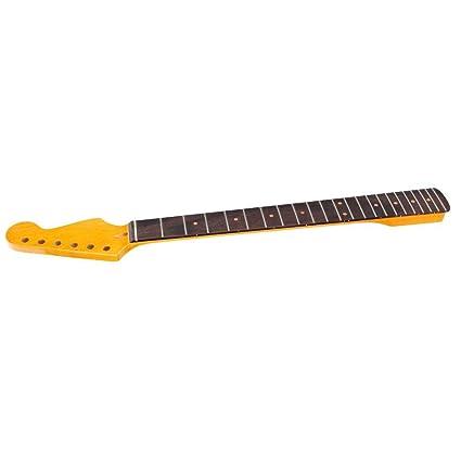Fafeims Cuello de Guitarra, 22 trastes Red Mark Dots Maple ...
