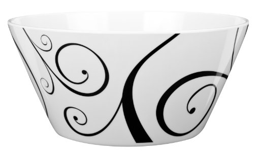 (Zak Designs 6051-0321-ISET Urbana Soup Bowl, 27 oz, Black & White)