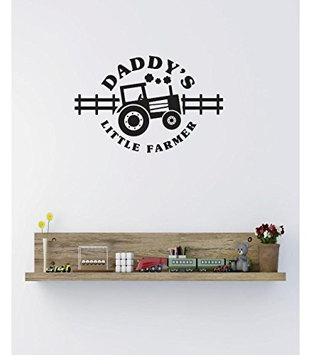 Black Design with Vinyl RE 2 C 2440 Daddys Little Farmer Image Quote Vinyl Wall Decal Sticker 12 x 12