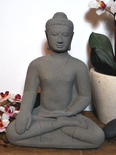 Fst Stone (Indonesian Buddha Replica Stone Statue for Garden Home Decoration – Real Lava Sand – 6.3 Kg)
