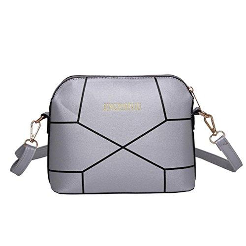 Women Bag Crack Bag Handbag Hunpta Ladies Silver Tote Shoulder Shoulder Purse Fashion Crossbody Large xYqyfqwE8t